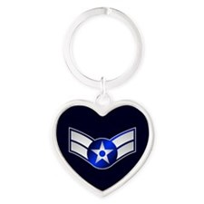 Air Force Airman First Class Heart Keychain