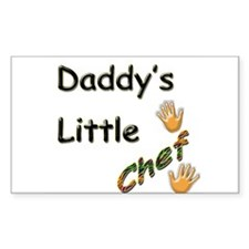 Daddy's Little Chef Rectangle Decal