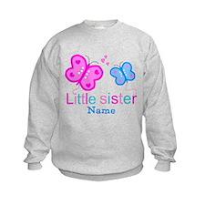Little Sister Butterfly Sweatshirt