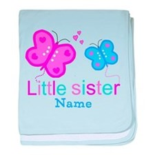 Little Sister Butterfly baby blanket