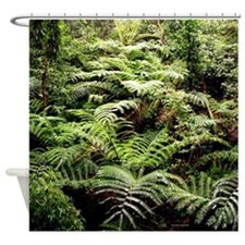 Ferns in Paradise Tropical Jungle Shower Curtain