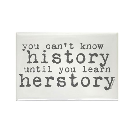 History vs. Herstory Rectangle Magnet