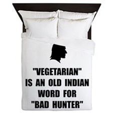 Vegetarian Bad Hunter Queen Duvet
