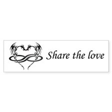 Share Love Polydragon Bumper Bumper Sticker