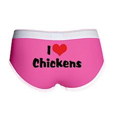 I Love Chickens Women's Boy Brief