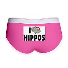 I Love Hippos Women's Boy Brief