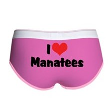 I Love Manatees Women's Boy Brief