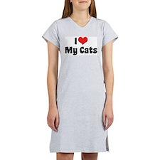 I Love My Cats 2 Women's Nightshirt