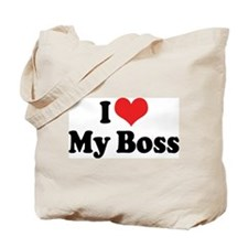 I Love My Boss Tote Bag