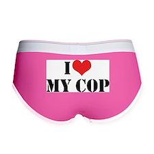 I Love My Cop Women's Boy Brief