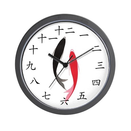 Chinese fish wall clock by occidentorient for Fish wall clock