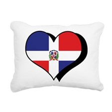 Cute I love dominican republic Rectangular Canvas Pillow