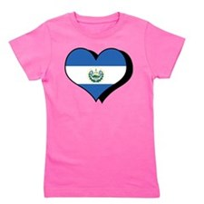 Cute El salvador flag Girl's Tee