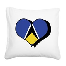 Funny Flag of saint lucia Square Canvas Pillow