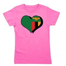 I Love Zambia Girl's Tee