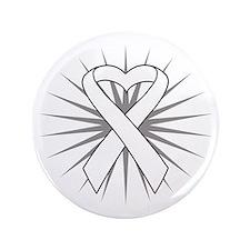 """Mesothelioma Heart Ribbon 3.5"""" Button"""