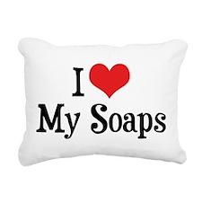 I Love My Soaps Rectangular Canvas Pillow