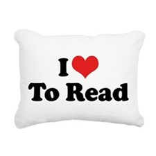 I Love To Read 2 Rectangular Canvas Pillow