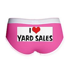 I Love Yard Sales Women's Boy Brief