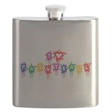 I Love Paintball Flask