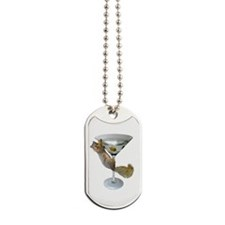 Martini Squirrel Dog Tags