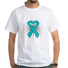 Ovarian Cancer Heart Ribbon Shirt
