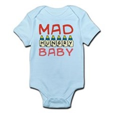 Mad Hungry Baby Girl Body Suit