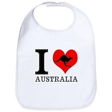 I Love Australia Bib