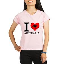I Love Australia Performance Dry T-Shirt