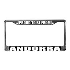Andorra License Plate Frame
