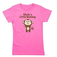 Uncles Little Monkey Girl's Tee