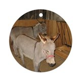 Round Ornament- Burros