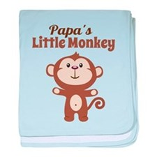 Papas Little Monkey baby blanket