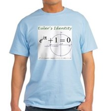 Euler's identity Light Color T-Shirt