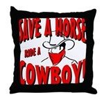 Ride Me Throw Pillow