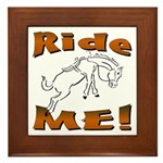Ride Me Framed Tile