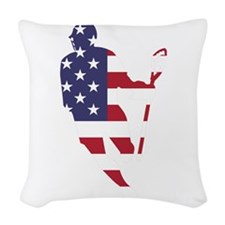 Lacrosse IRollMericaHorz Woven Throw Pillow