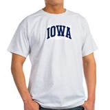 Blue Classic Iowa Ash Grey T-Shirt