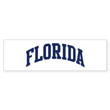 Blue Classic Florida Bumper Car Sticker