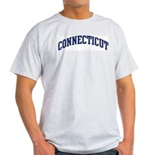 Blue Classic Connecticut Ash Grey T-Shirt