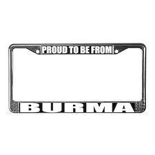 Burma License Plate Frame