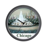 Wall Clock/Chicago Buckingham fountain