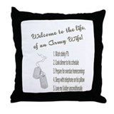 Life of An Army Wife Throw Pillow