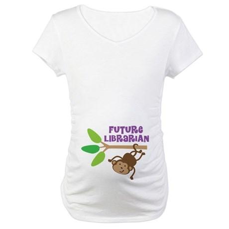 Kids Future Librarian Maternity T-Shirt