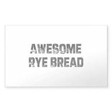 Awesome Rye Bread Rectangle Decal