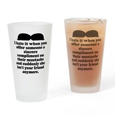 Compliment Her Mustache Drinking Glass