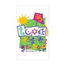 Kids LOVE Playground Rectangle Decal