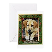 Labrador Retriever Dog Christmas Greeting Cards
