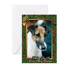 Smooth Fox Terrier Dog Christmas Greeting Cards