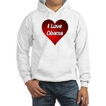 I Love Obama 2012 Hooded Sweatshirt